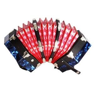 Image 2 - コンサーティーナアコーディオン 20 ボタン 40 リードアングロスタイルキャリングバッグ