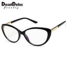 2019 New Designer Woman Flower Optical Glasses Frame Vintage Floral Cat Eye Clear lens Eyewear Black Red