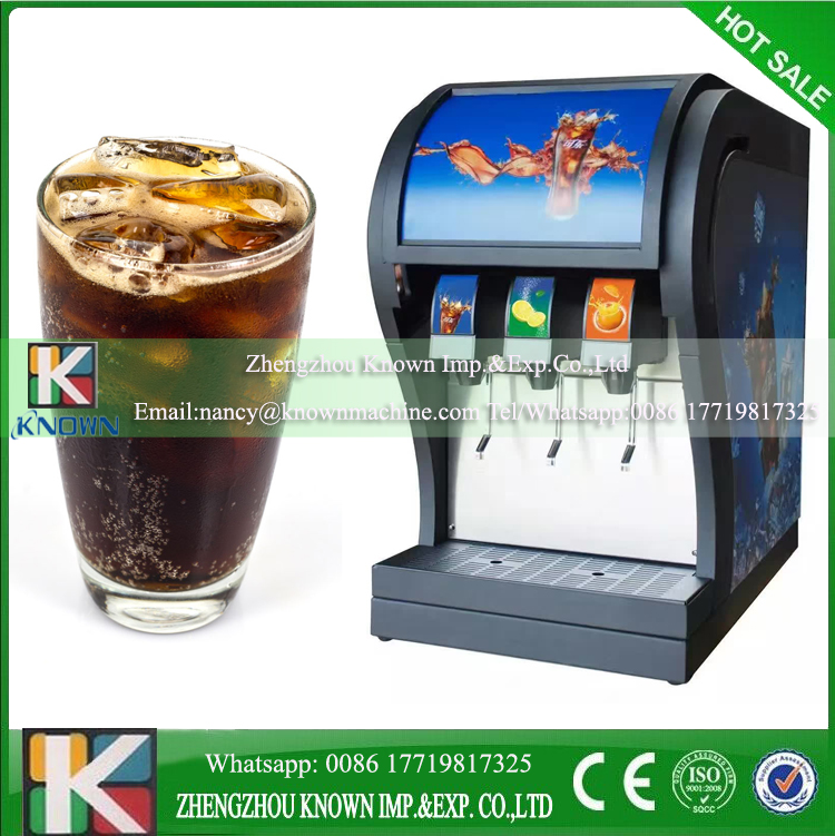 Commerical soda coke fountain dispenser soda beverage dispenser 3 flavors cold drinks coke dispenser vending selling machine field modulation coke making machine