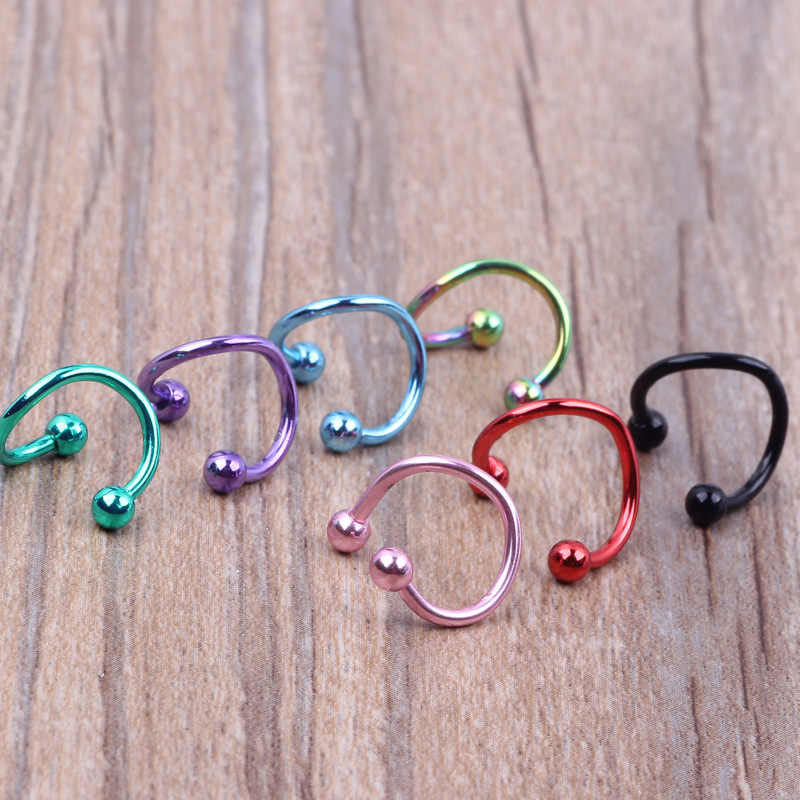 נירוסטה S-מוט האף טבעת שפתיים נייל לשון נייל עגיל נגד אלרגיה פירסינג קישוט טבור טבעת גוף תכשיטים