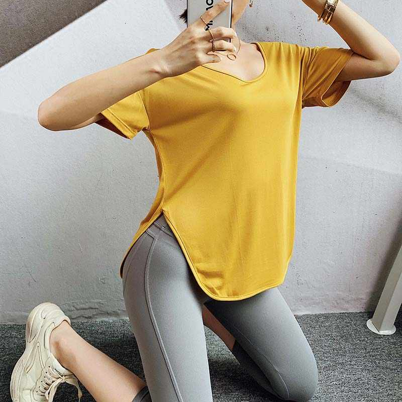 Vrouwen Ademend Sneldrogende Korte Mouwen O-hals Running Yoga T-shirt Losse Oefening Top Fitness T-Shirts Sport Tees Workout
