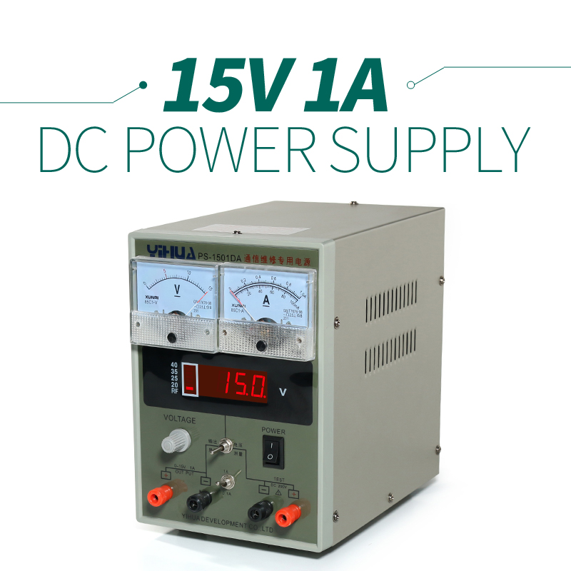 ФОТО YIHUA 1501DA Regulated Protection Circuits Power Supply LCD Display