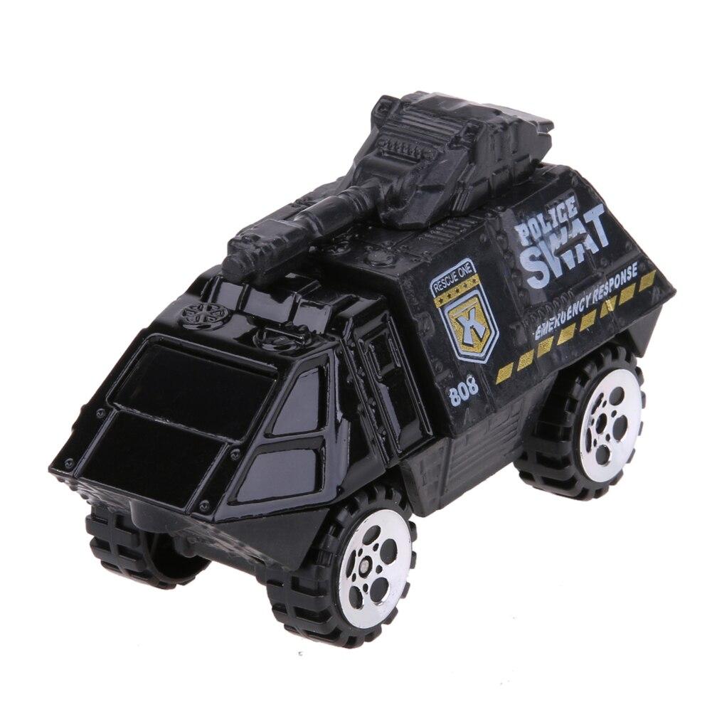 5pcs 1:64 Scale Alloy Police Car Models Kids Children Car Toy Gift Set Pull Back Police Sound and light Car Toys For Children