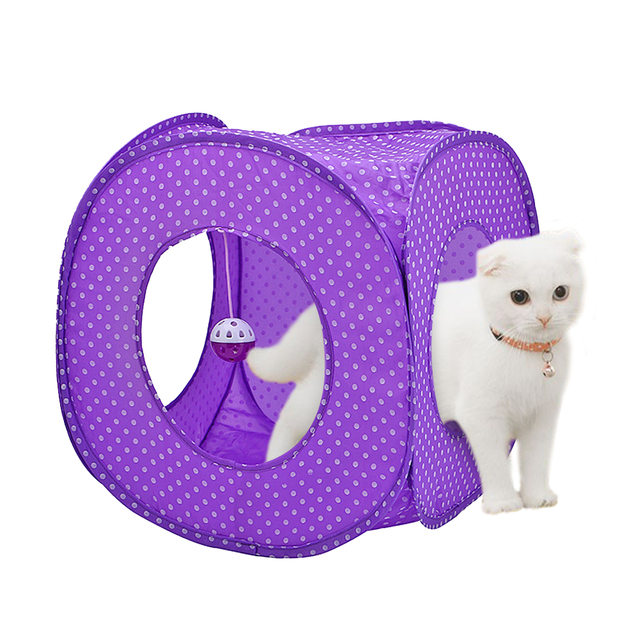 Foldable Pet Cat Tunnel Toys Outdoor Ball Toy Collapsible Crinkly Kitten Cats Puppy Ferrets Rabbit Play S