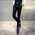 Autumn and winter influx of men's casual pants male Korean Slim pants feet pants male adolescent black trousers male pants
