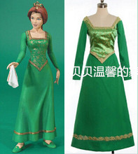 2016 Custom Made Shrek Princess Fiona Dress Costume font b Anime b font font b Cosplay