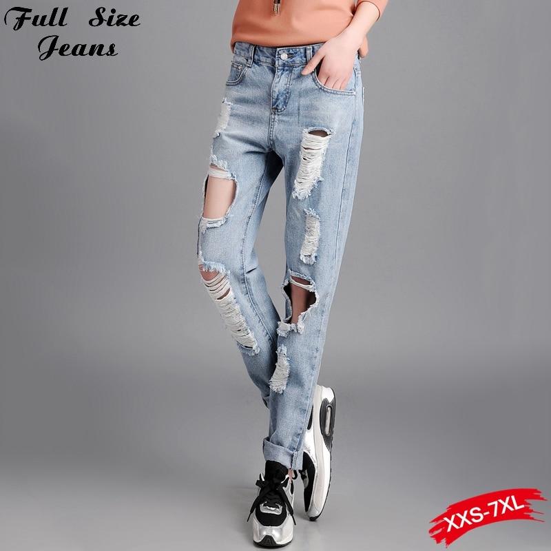 Online Get Cheap Distressed Jeans Xxxl Women -Aliexpress.com ...