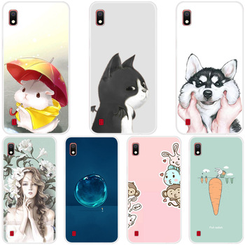 Fashion Cute Cartoon Animals Phone Case For Samsung Galaxy A10 A30 Painted Phone Case For Samsung Soft Silicone Full Back Cover image