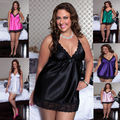 free shipping sexy lingerie hot Sling deep V-neck chemise sexy plus size xl-4xl lingerie 6 color lenceria sexy sexy costumes