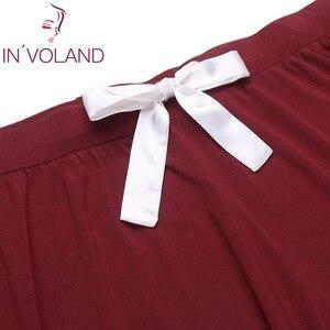 Image 5 - INVOLAND Frauen Pyjama Set Größe xl 5xl Nachtwäsche Revers Kurzarm Taste Bogen Hemd Shorts Große Lounge Plus Größe