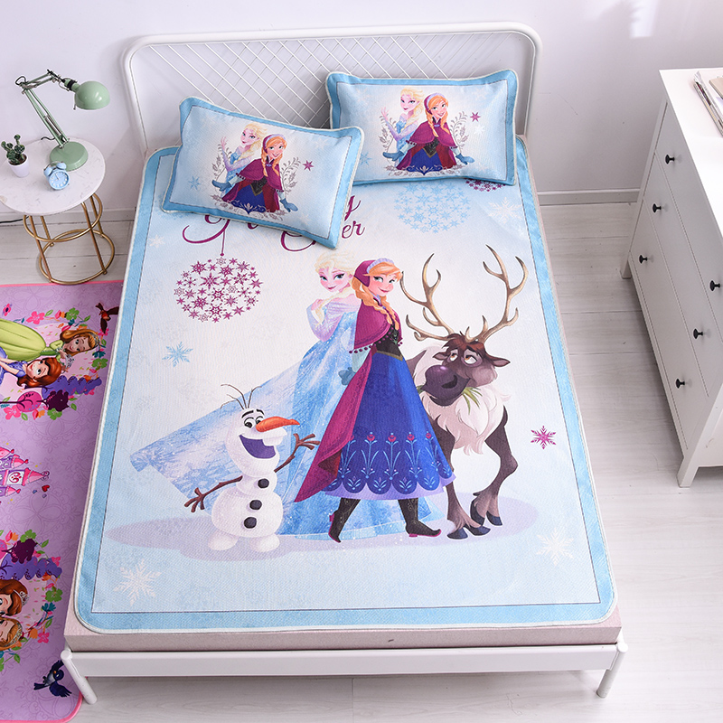 Disney Frozen Zomer Slapen Bed Mat Anna Aisha Gedrukt Bed Topper Vel Ijs Zijde Soft Kids Meisjes Matras Protector Cover Set 100% Garantie