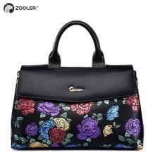 цены ZOOLER women bag 2017 embossed colored flower pattern genuine leather bag real leather handbag luxury  bolsa feminina #2939