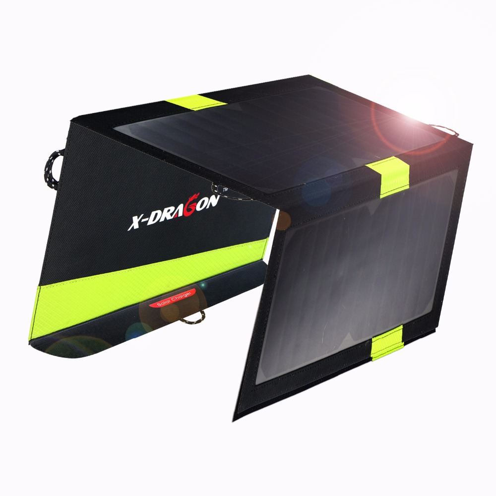 20W Solar Charger 5v Dual USB Solar Panel Power Charger Foldable Power Bank for Smartphones кастрюля титан nz nz 950 мл 0 95л