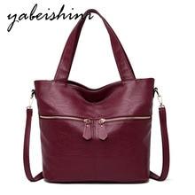 กระเป๋าถือสตรีแฟชั่นMessengerกระเป๋ากระเป๋าสุภาพสตรีคุณภาพสูงกระเป๋าหนัง 2019 Solidสี