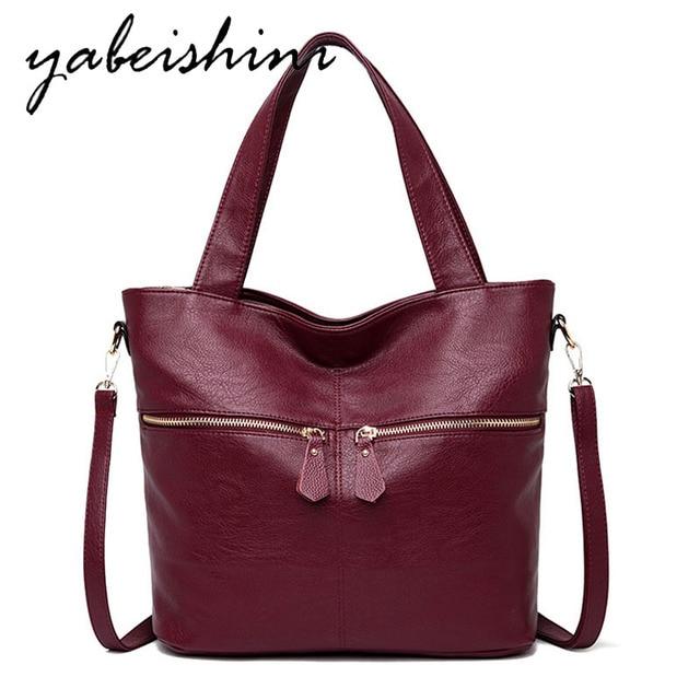 Womens handbags fashion Messenger bag luxury ladies bag designer high quality leather shoulder bag 2019 durable solid color
