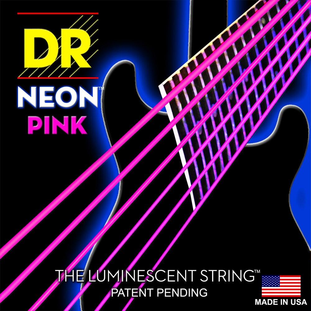 dr k3 hi def neon pink luminescent electric guitar strings light 09 42 or medium 10 46 in. Black Bedroom Furniture Sets. Home Design Ideas
