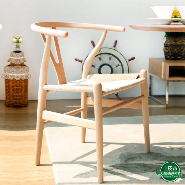 Delicieux Hans J Wegner Style Wishbone Chair   Natural