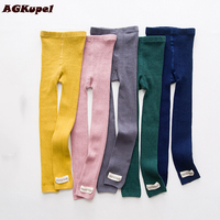 AGKupel Cotton Girls Leggings Girls Spring Autumn Pants Fashion Knitting Girls Leggings For Baby Girls Kids
