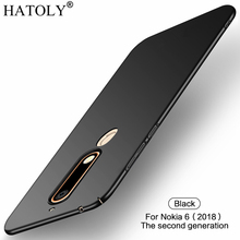For Nokia 6.1 Case for Nokia 6 2018 Ultra-thin Smooth Cover Hard PC Protective Back Case for Nokia 6.1 TA-1043 TA-1050 HATOLY стоимость
