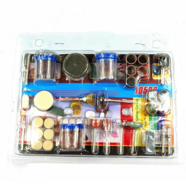 """105 piezas herramienta rotativa eléctrica accesorio de grabado de Metal de madera para juego de brocas de Dremel 1/8 """"para corte de pulido de Dremel"""