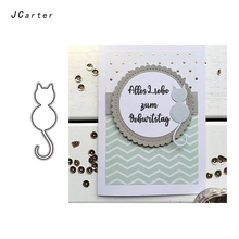 JC Metal Cutting Dies for Scrapbooking Cut Cat Shape Die Decoration Flowers Stencil Handmade Paper Card Making Model Craft