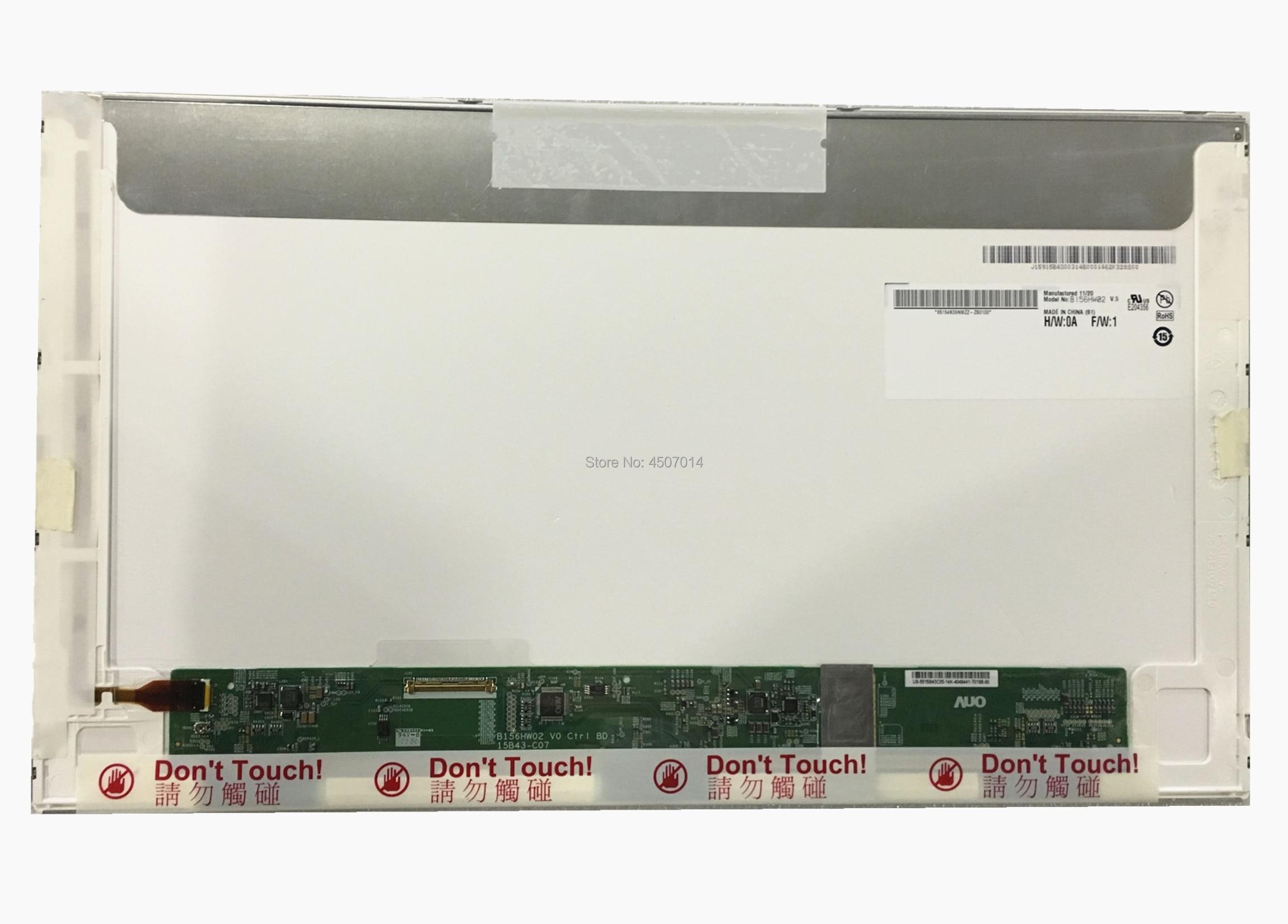 Livraison Gratuite B156HW02 V.5 B156HW01 V0 B156HW01 V0 V1 V2 V3 B156HTN01.0 B156HTN01.1 écran lcd d'ordinateur portable 1920*1080 LVDS 40PINS
