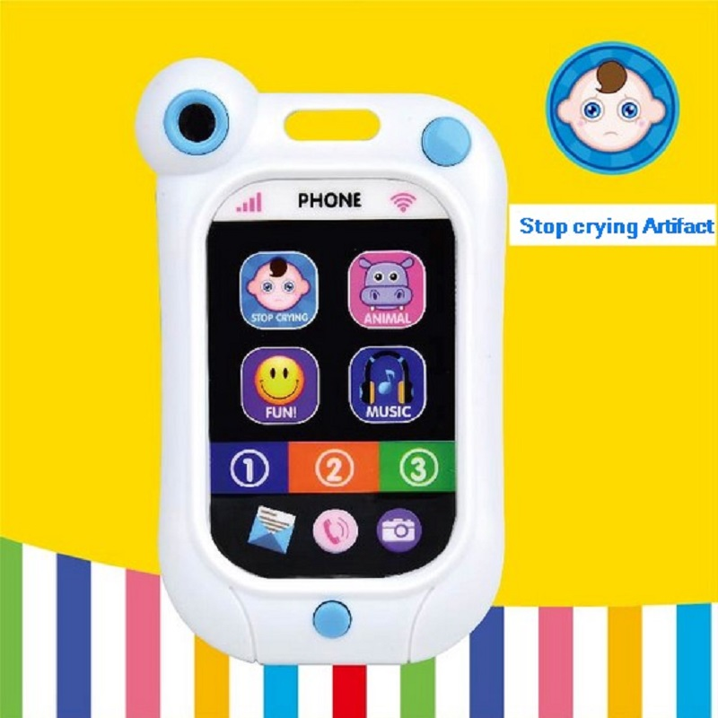 Infant stop crying machine infant toys mobile phone baby education toys artifact simulation smartphone baby bed
