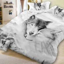 2/3Pcs Bedding Set Quilt Cover Pillowcase New 3D Cat Printing Bedclothes Decor Winter Comfortable Sets