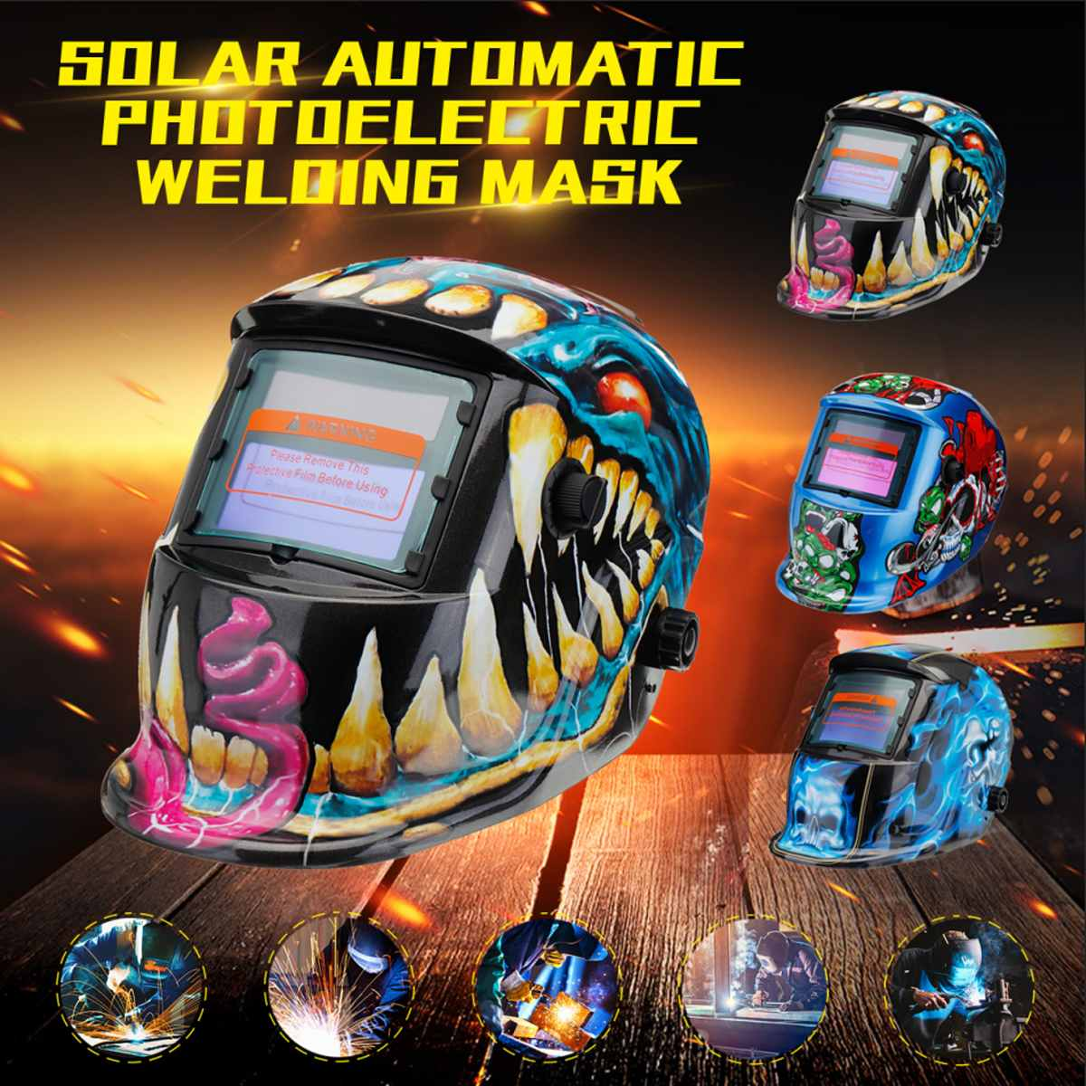 New Style Solar Automatic Photoelectric Welding Mask Helmet Welding Caps Solar Power Welding Helmets Adjustable HeadbandNew Style Solar Automatic Photoelectric Welding Mask Helmet Welding Caps Solar Power Welding Helmets Adjustable Headband