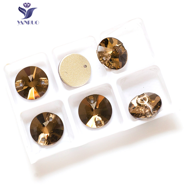 a90aa80bd3 YANRUO 3200 Rivoli Light Colorado Topaz Sew On Crystals Stones Clothes  Glass Rhinestones Sewing Craft Dress-in Rhinestones from Home & Garden on  ...