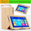 "High quality Free shipping original pu case for 10.6"" Cube i10 quad core Tablet PC,Cube i10 case,Cube i10 Cover"