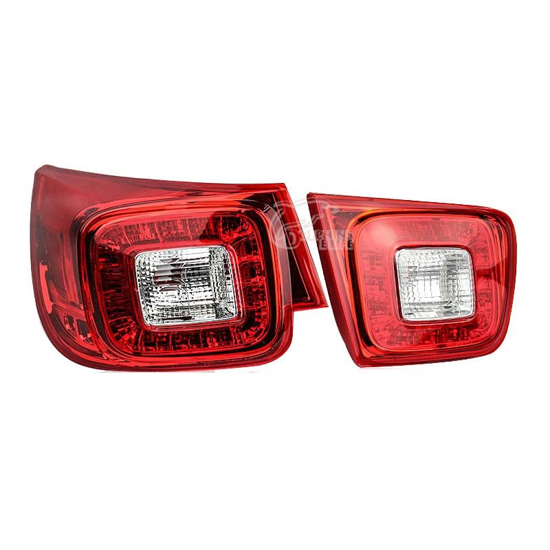 все цены на Car Taillight For Chevrolet Malibu 2013 2014 Car 12V LED Tail lights Rear Lights Kit modification Car Lamp Auto Lights Assembly онлайн