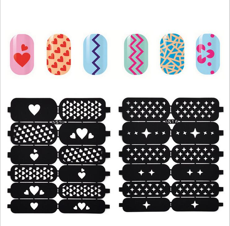 Perfect Nail Airbrush Stencils Component - Nail Paint Design Ideas ...