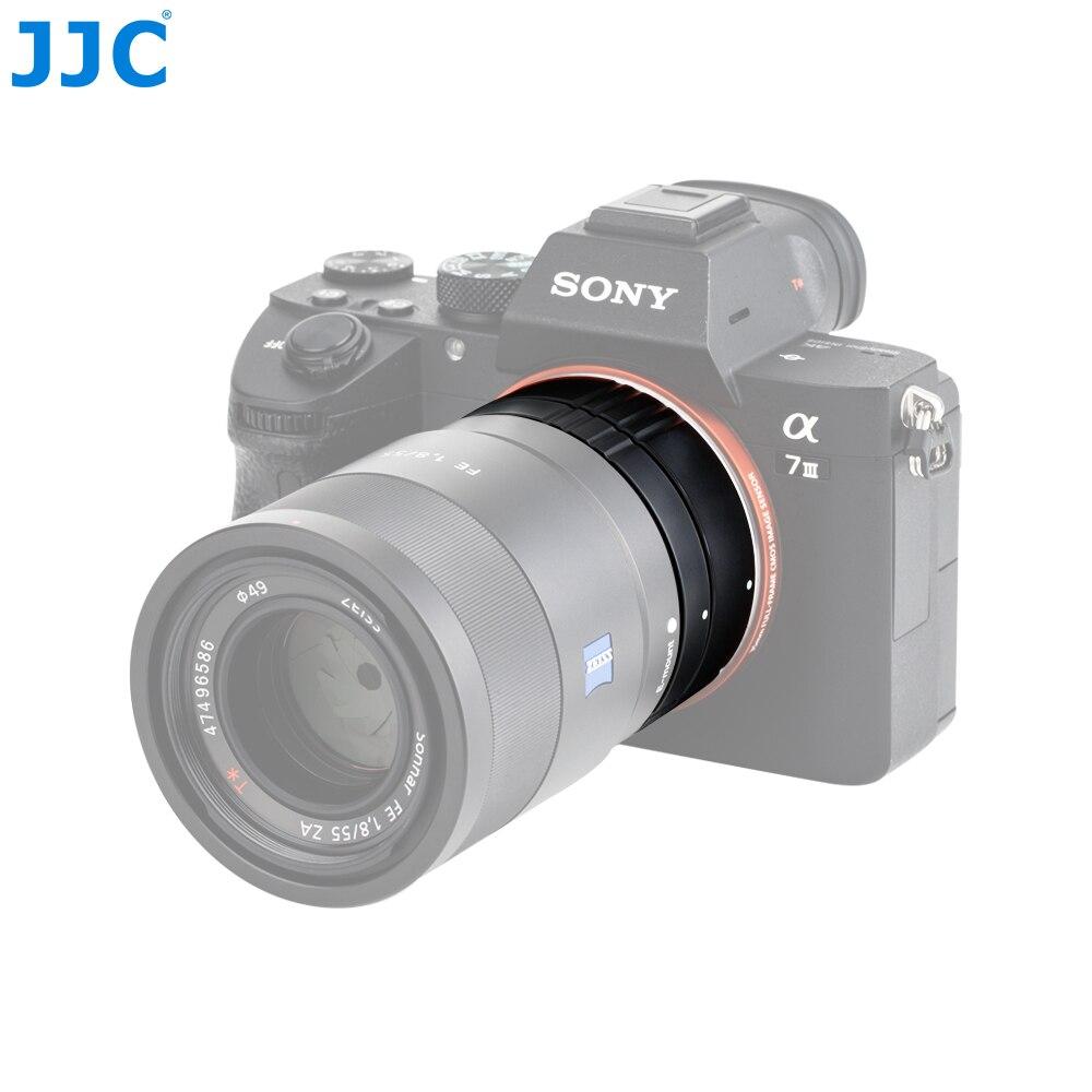 JJC AET-SES (II) 10mm et 16mm Tube d'extension automatique bague adaptateur de mise au point automatique convient à la photographie Macro pour Sony E Mount