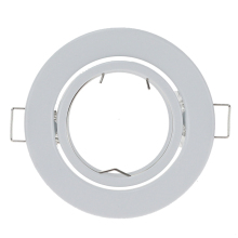 10 шт./лот круглый белый светодиодный встраиваемый потолочный светильник Регулируемая рамка для GU10 MR16 монтажные точечные потолочные светильники