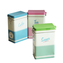 RetroTea Coffe Storege Box Jewelry Candy Box Cans Coin Earrings Headphones Gift Box Small Mrtal Iron Storage Boxes