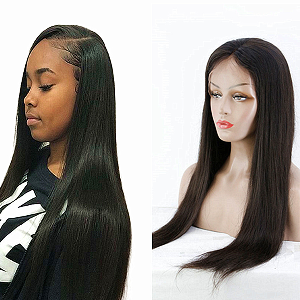 human hair straight lace wigs