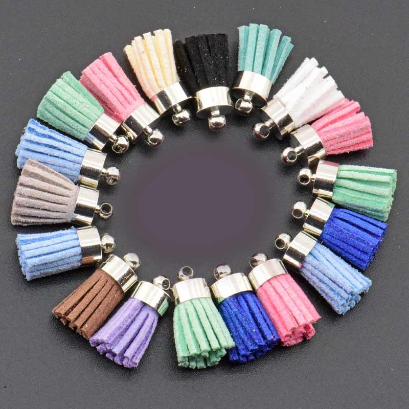 15mm South Korea velvet Tassel Suede Tassel Accessories for boho jewelry diy making Supplies bracelet necklace earring