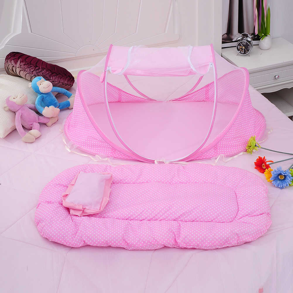 3 шт./компл. складной детская сетка кровать спать подушки переносная люлька складной Анти-москитные противомоскитная сетка кровать для ухода за ребенком