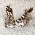 Atacado 10 pcs verão barefoot bebê sandálias de sola macia de couro genuíno lace up gladiador sandálias das meninas do bebê crianças se vestem sapatos
