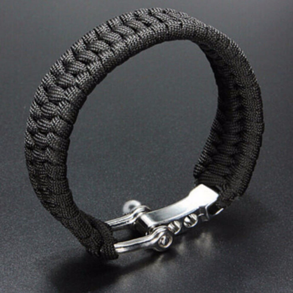 Braided Paracord Bracelets For Men Women Outdoor Camping Parachute Rope Clasp Survival Bracelet Multi-Function Adjustable