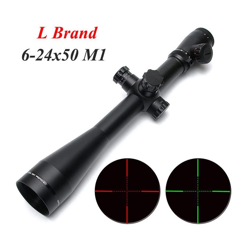 L Brand MARK 4 M1 6-24X50 Optics Rifle Scope Mil Dot Illuminated Side Wheel Spotting Scopes Hunting Scopes For Sniper Rifle dural use adapter for universal for spotting scopes