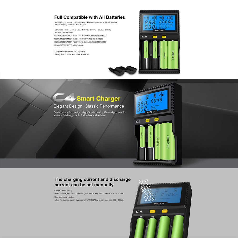 Image 5 - Li ion battery charger 18650 charger for 21700 18490 17670 R13650 17355 16340 AA battery-in Battery Testers from Tools