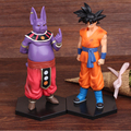 NEW hot 17cm 2pcs/set dragon ball Super Saiyan God Son Goku Champa Shanpa action figure toys collection