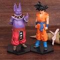 NUEVA caliente 17 cm 2 unids/set dragon ball Super Saiyan Goku Hijo Dios Champa Shanpa figura de acción juguetes colección