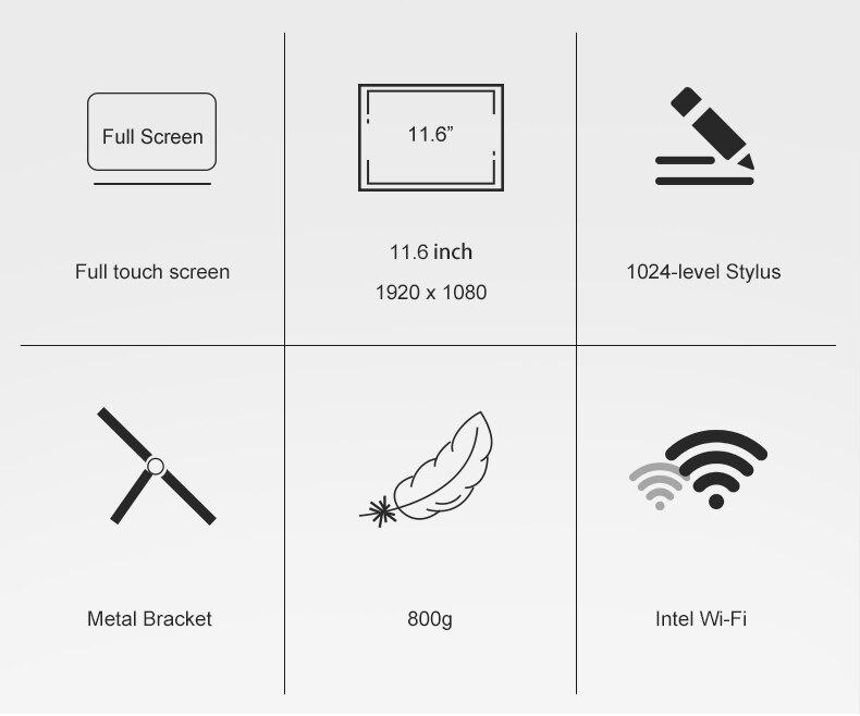 Jumper EZpad Go 2 in 1 Tablet PC 11.6 inch IPS Display windows tablet (2)