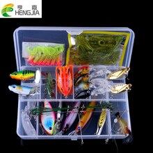 90PCS/Box Fishing Lures Set Hard Baits Soft Baits Kit Popper Crankbait VIB Topwater Fishing Lures Hooks Fishing Tackle HJ094