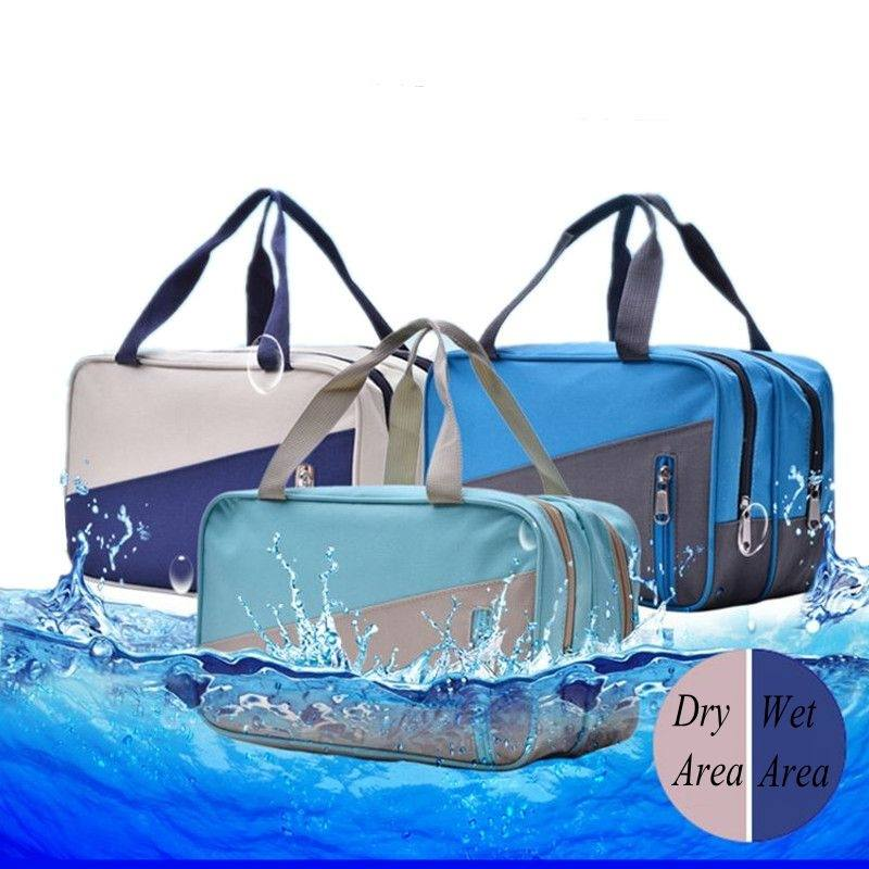 LHLYSGS Brand Wet And Dry Separation Organizer Cosmetic Bags Women Travel Waterproof Necessity Carry Wash Toiletry Makeup Bags
