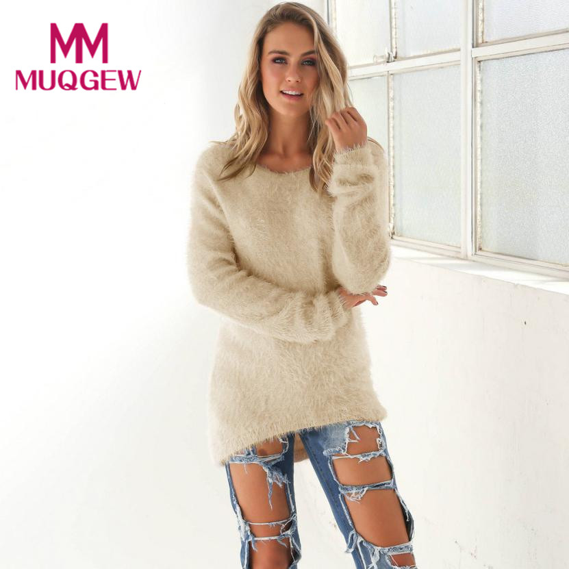 Winter Women Warm O-Neck Long Sleeve Casual Sweater Knitted Pullover Women Tops christmas oversized sweater pull femme hiver