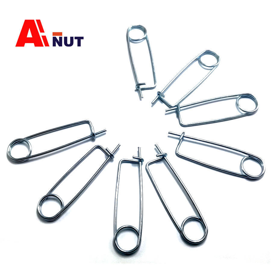 4mm safety pin 10pcs, 34*98mm safety spring pin , 4# special pins fastener